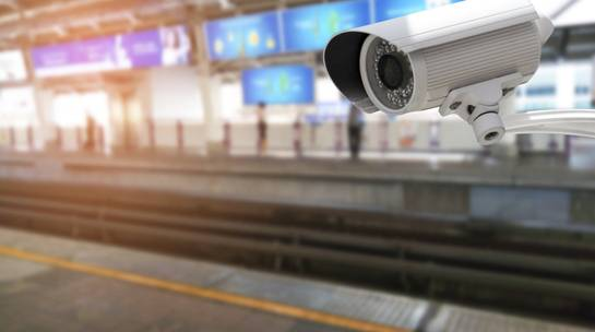CCTV security system installed at train station