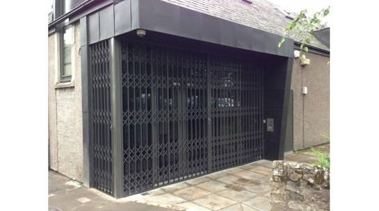 Closed Security Grilles at commercial